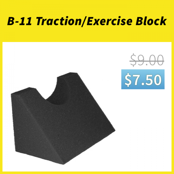 B-11 Traction/Exercise Block On Sale for $7.50